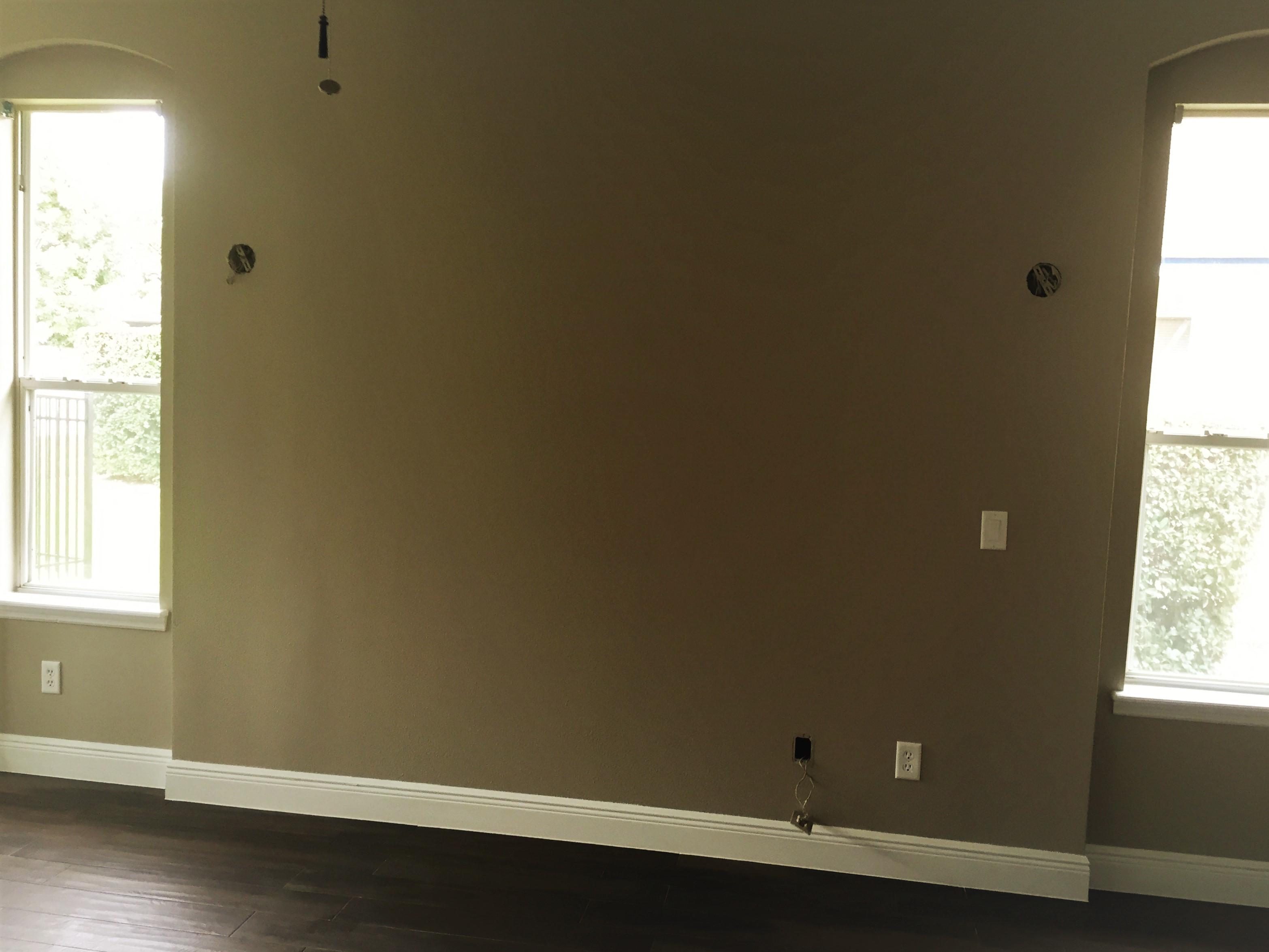 New drywall wall